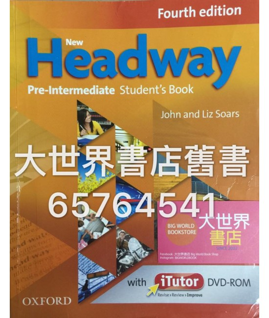 New Headway: Pre-Intermediate :Student's Book and iTutor (4 E)